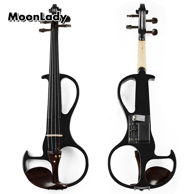 4/4 ABS Electric Violin Black Musical Instruments High Quality Stringed Instrument Good for Beginners and Music Amateurs 4 4 violin fiddle stringed instrument musical for kids student beginners high quality basswood body steel string arbor bow rosin