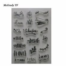 Mac YS025-048 Alphabet Transparent Silicone Clear Stamp For DIY Scrapbooking/Card Making/ Decoration Supplies Transparent Stamp