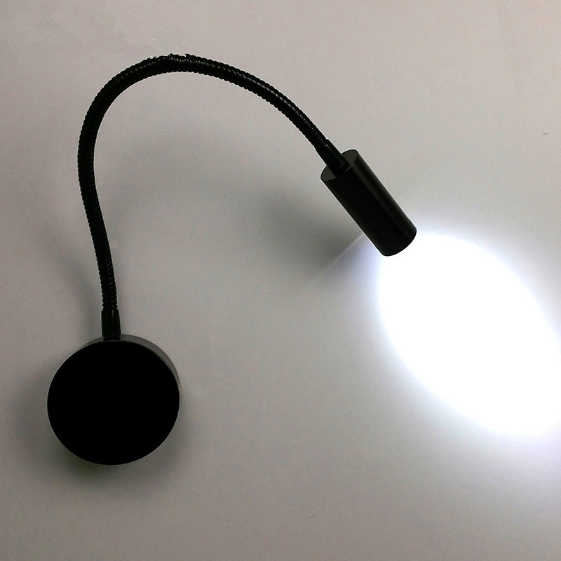 Black Flexible Hose Led Modern Wall Lamp Flexible Arm
