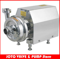 Food Grade Beverage Milk Industrial Stainless Steel Sanitary Centrifugal Pump With 370W 380v 50hz ABB Motor