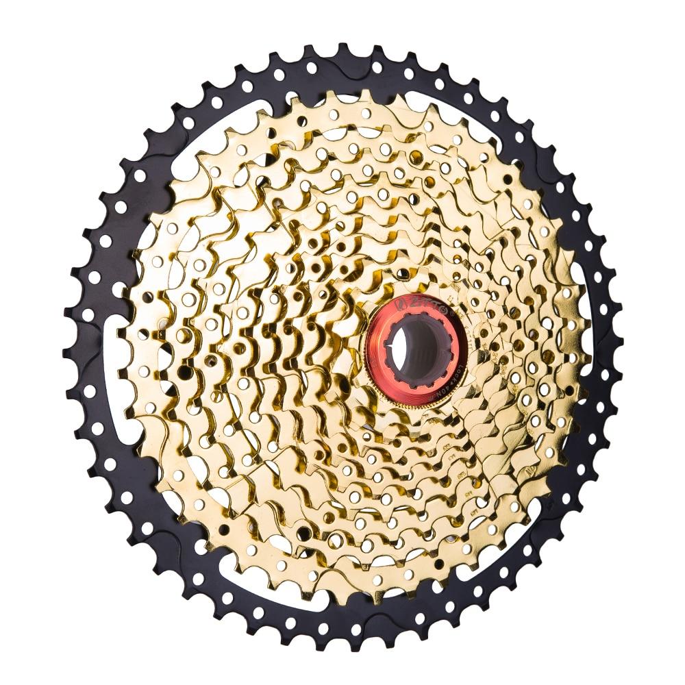 11 Speed 11 50T SL Black Gold Freewheel Cassette Mountain Bike Bicycle Parts Sprockets 11v 11s 22s Freewheel for K7 XT X1 X01 X1 Bicycle Freewheel     - title=