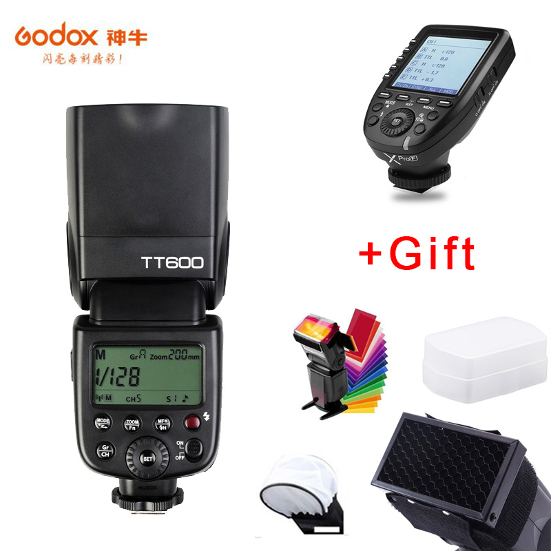 Godox TT600 GN60 HSS 1/8000s Camera Flash Speedlite+2.4G Wireless Xpro F Transmitter For Fuji XT 30 XT20 XT3 X H1 GFX50R X T2-in Flashes from Consumer Electronics    1
