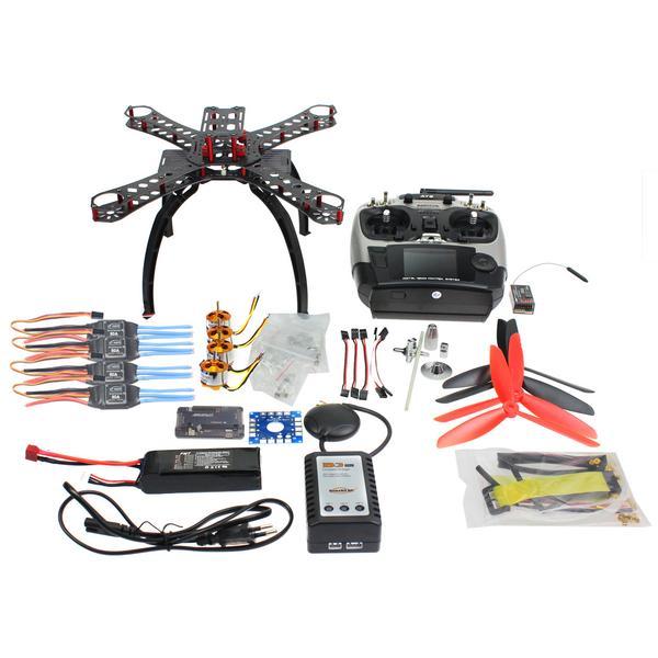 RC Fiberglass Frame Multicopter Full Kit DIY GPS Drone FPV Radiolink AT9 Transmitter APM2.8 1400KV Motor 30A ESC 310 mm carbon fiber frame diy gps drone fpv multicopter kit radiolink at10 2 4g transmitter apm2 8 1400kv motor 30a esc f14891 d