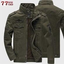 سترة عسكرية لعام 2020 للرجال من الجينز معطف قطني غير رسمي مقاس كبير 6XL جاكيت تكتيكي للسفر في الجيش جواكت للخريف والشتاء للشحن