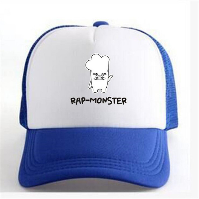 Berretto da baseball RAP-MONSTER KPOP BTS Bangtan ragazzi donne snapback  caps ragazza netto cap cb0ed0ddedfe