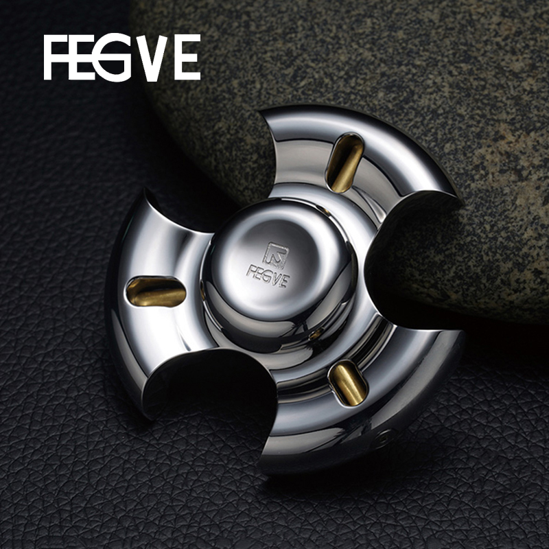 FEGVE Mirror Fidget Spinner Hand Spinner Finger Spinner Metal stainless steel EDC 695 Ceramic Bearings Handspinner Toys FG37 batman version fidget spinner metal edc toys tri hand spinner for autism and adhd 606 mixed ceramic bearing for fun assembly