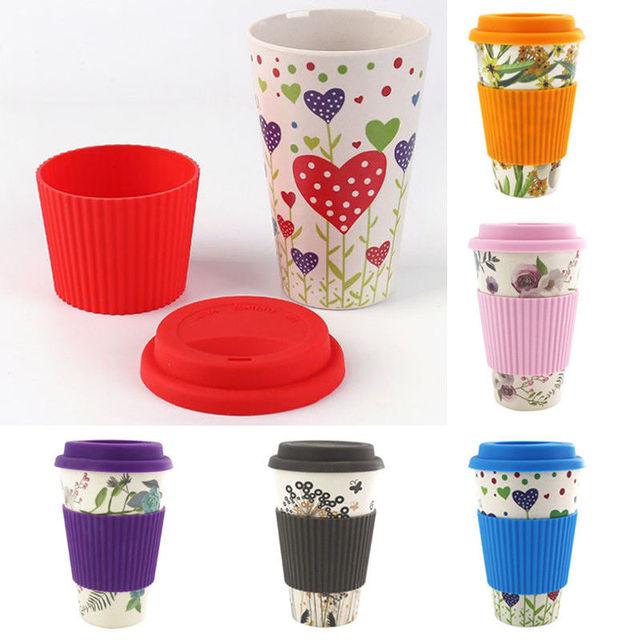 Planet Friendly Portable Bamboo Fibre & Silicon Reusable Coffee Cup