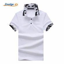 Covrlge Mais Novo Designer 2018 Marca de Moda Masculina Camisa Polo-Camisa  de Manga Curta Polo Dos Homens Slim Fit Camisas Casua. 3e99f41c87f2f