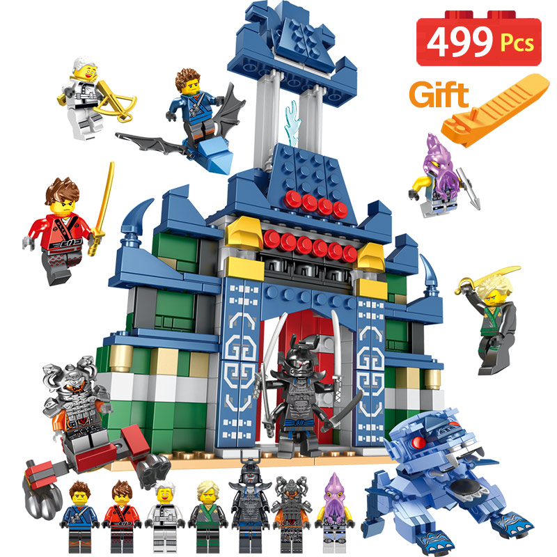 Mini LegoINGLYS Ninjago Movie Figures Temple of The Ultimate Weapon Blocks Stone Temple Lion Toys For Children forbidden temple the