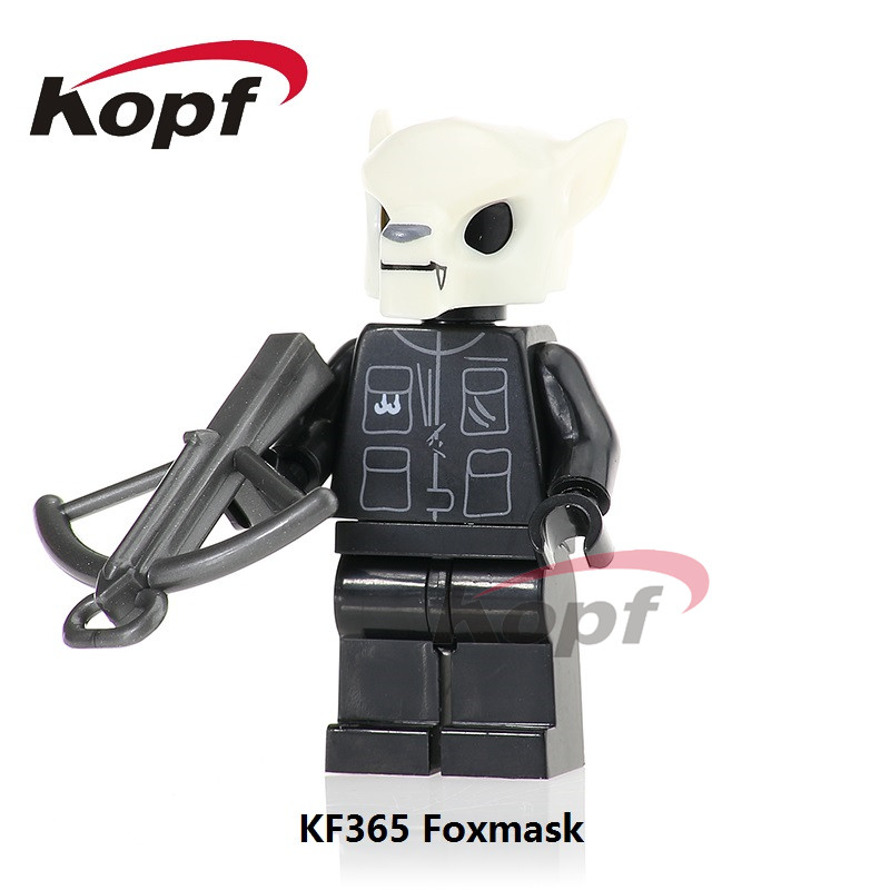 KF365 The Horror Theme Movie Foxmask American Crazy Man Heres Jonney Michael Myers Building Blocks Action Children Gift Toys