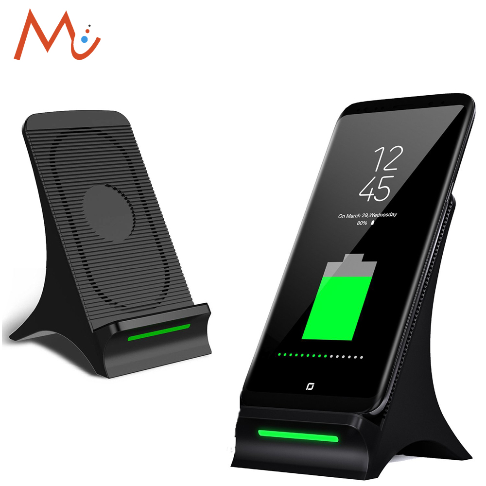fast wireless charger for iphone x qi mat charging station. Black Bedroom Furniture Sets. Home Design Ideas