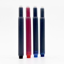 Kaco 6pcs Long Ink Cartridge Large Capacity Black Blue Dark-blue Red Fountain Pen Cartridges 1 Box Office Supplies