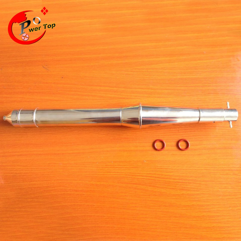 RC Stainless steel exhaust pipe Tuned Pipe 26cc For Boat Engine stainless steel tuned pipe exhaust for zenoah rcmk sikk rc boat 23 30cc 380mm