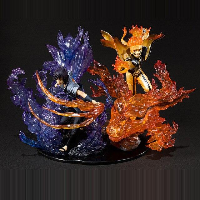 Anime Naruto Shippuden Rikudousennin Modo Uzumaki Naruto Susanoo Uchiha Sasuke PVC figurine à collectionner modèle jouet