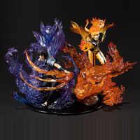 Anime Naruto: Shippuden Uzumaki Modo Rikudousennin Susanoo Naruto Uchiha Sasuke PVC Action Figure Collectible Modelo Toy