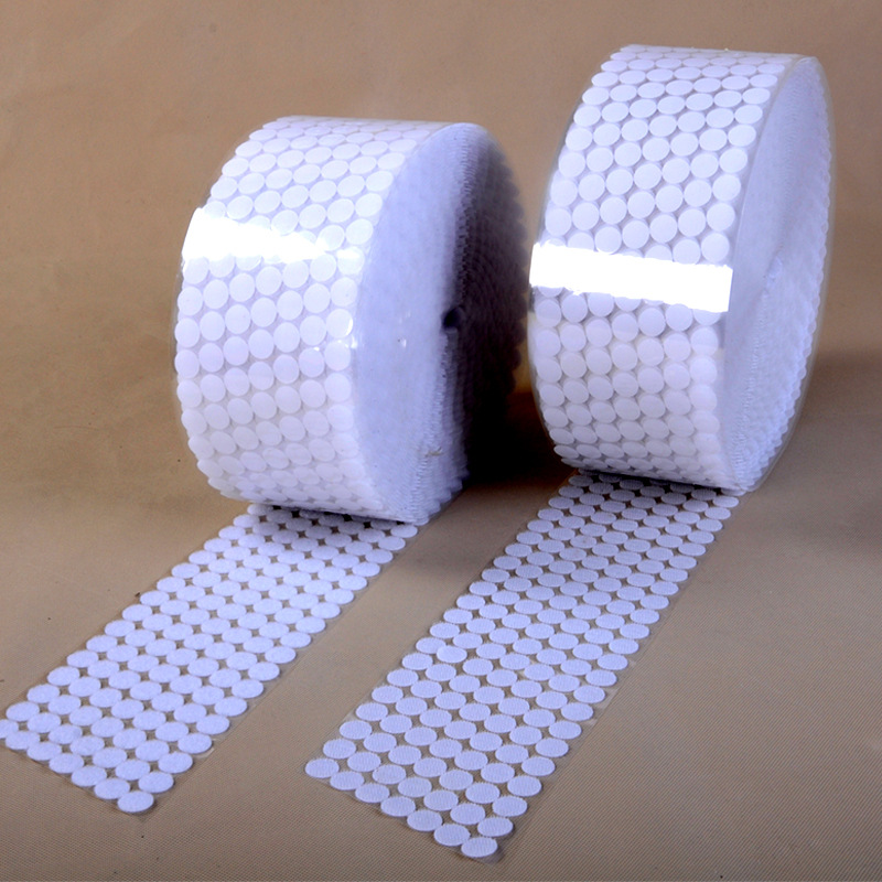 Adhesive Fastener Tape Hot Sale 15/20/25mm 100pairs Self Adhesive Fastener Tape Hook Loop Disks Magic Round Double Side Sticker Nylon Table Chair Feet With Glue