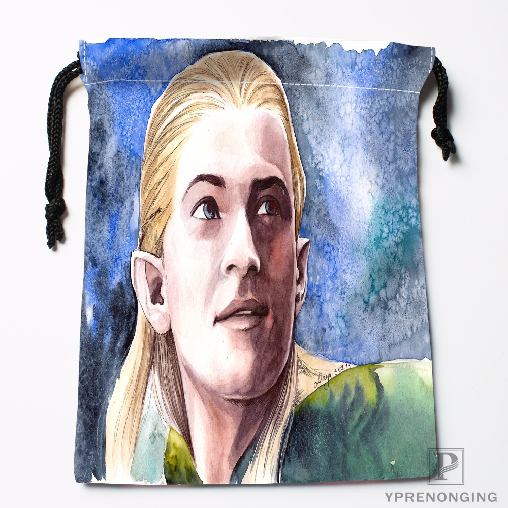 Custom Hobbit Legolas Drawstring Bags Travel Storage Mini Pouch Swim Hiking Toy Bag Size 18x22cm#0412-03-24