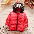 2016 Зима новый мальчиков верхняя одежда с капюшоном характер мягкий детская одежда A088