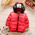 2016 Winter new baby boys outerwear hooded with character soft children clothing A088
