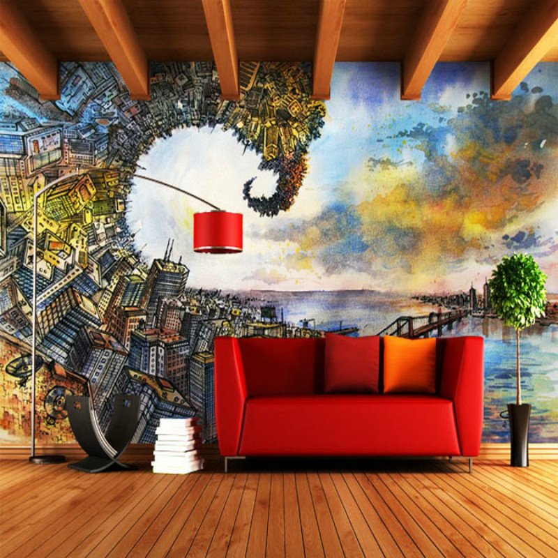 Large custom personalized wall mural TV background wall paper engineering office hotel bar nightclub KTV 3D wallpaper