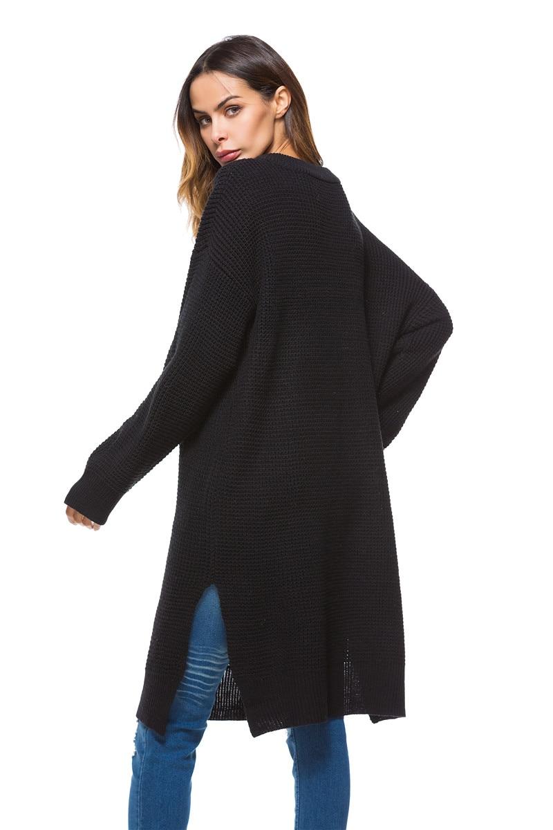 Fall Winter Vintage Mustard Side Slit Crochet Sweater Dress for Women Cute Ladies Retro Cosy Loose Split Pullover One Size 7