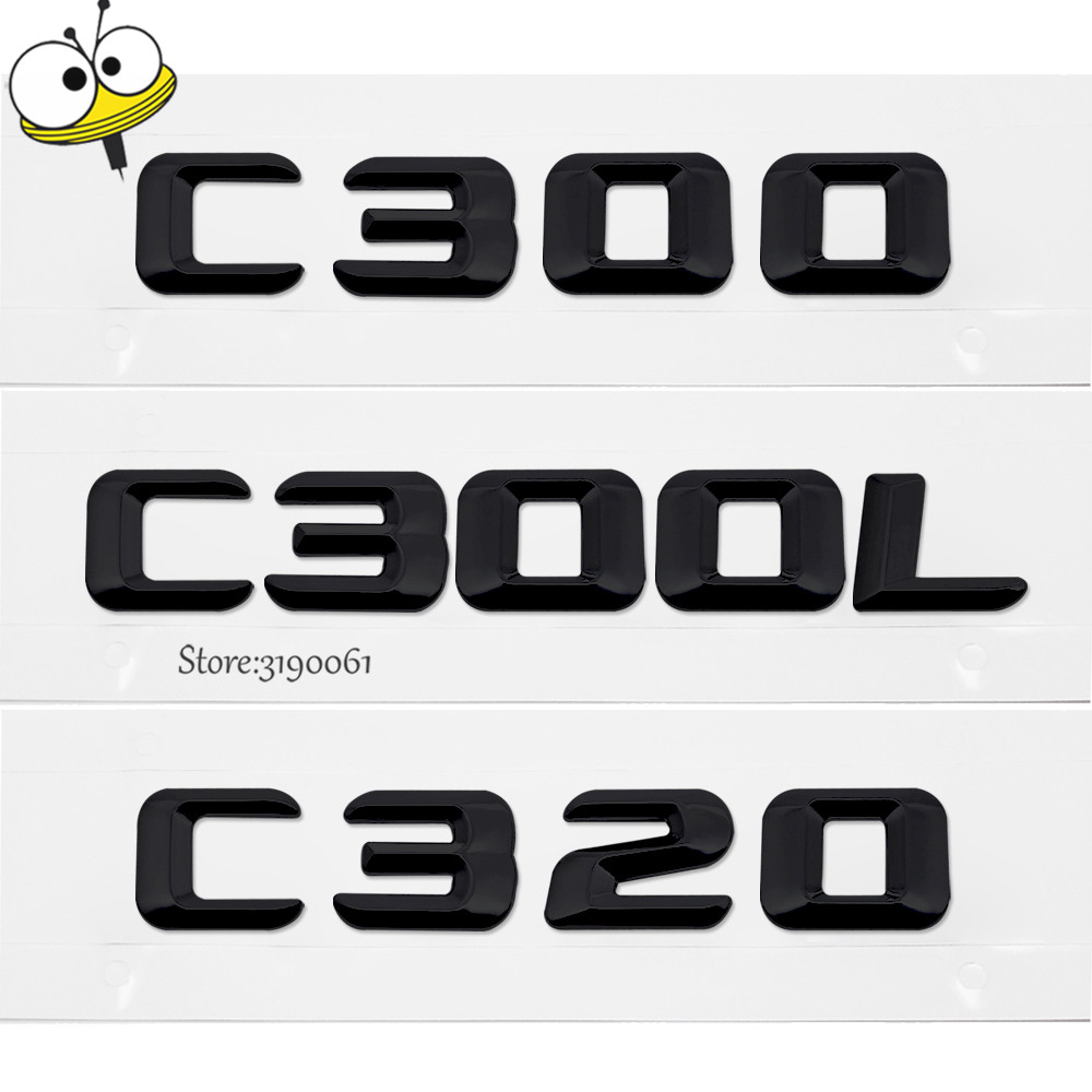 Car Exterior Accessories For Mercedes Benz C Class C300 C300L C320 Car Rear Sticker Emblem Number Letters Badge Car Decoration for mercedes benz viano 2010 2017 car rear trunk security shield cargo cover high qualit black beige auto accessories