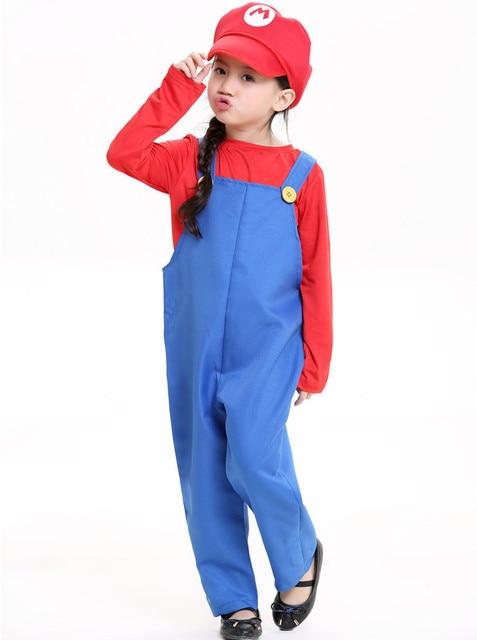 super mario costume women for kids bros girl cosplay mario child shirt super mario halloween costumes