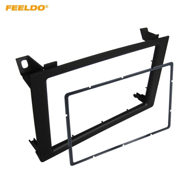 FEELDO Car 2Din Audio Facia Panel Frame Adapter for SAAB 9 3 Stereo Fascia Dash Plate