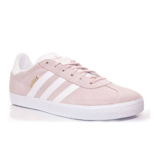 Sneakers rose adidas gazelle BY9544 et BLANC FILLE