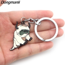 P3881 Dongmanli Avatar: The Last Airbender Key Holder Cute Enamel Metal Pendant Car Keychain For Rings Gifts