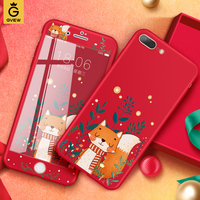 Gview 3D Cute Phone Cases For IPhone 8 Case 360 Full Protection Soft TPU Silicone Cover