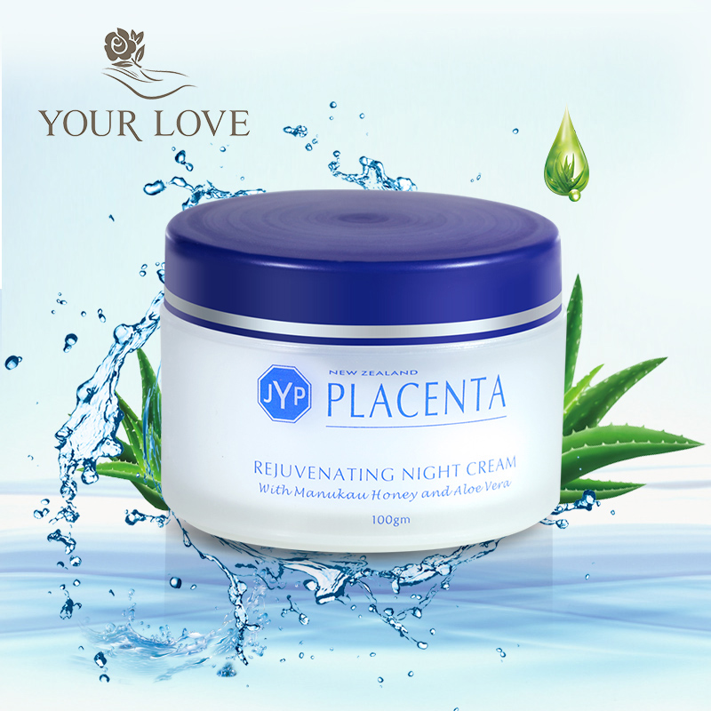 NewZealand JYP Sheep Placenta Rejuvenating Night Cream Reduce Wrinkles Anti-aging Face Cream Easily Absorbed Pleasant texture mizon placenta 45 ampoule 30ml firming lifting serum facial essence sheep placenta reduce wrinkles face cream korean cosmetic