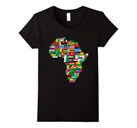 Africa T Shirt African Country Flags Continent Graphic Tee Design Short Sleeve T Shirt O Neck