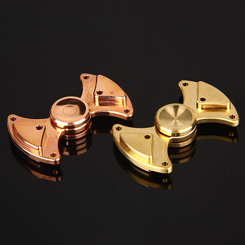 Hand Spinner Brass Copper Fidget Spinner Bearing Metal Spins Fidget Toys Rotating 3 Minutes Anti Stress