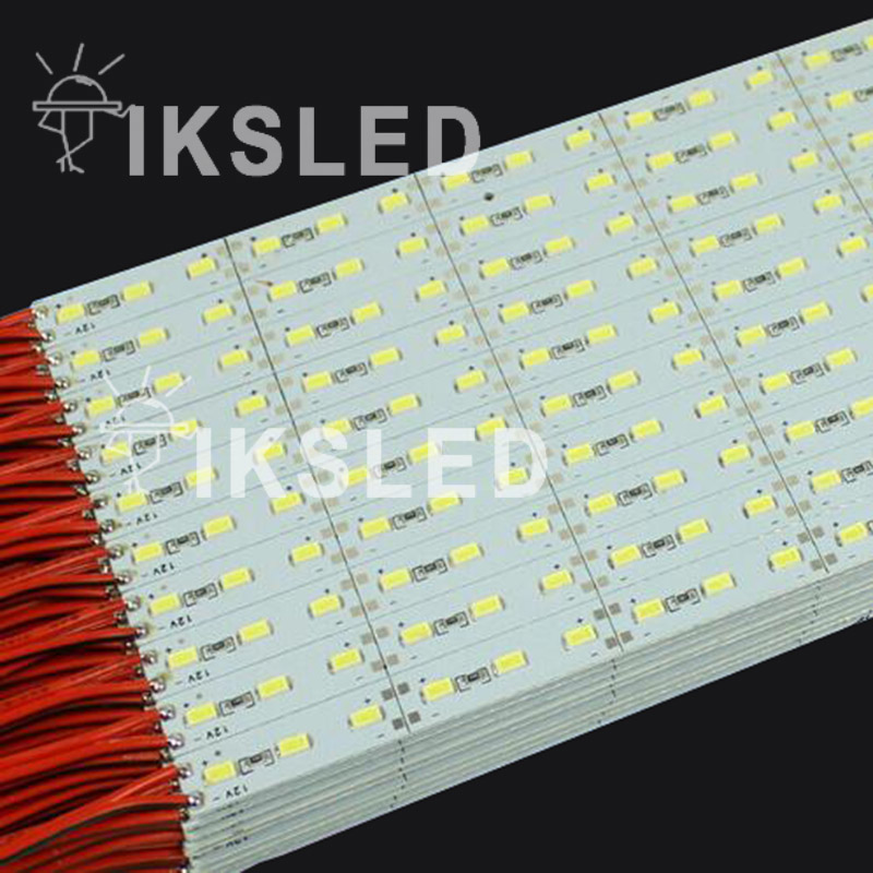 100pcs*1m smd 5730 led chip 18W12V high lumens high quality Hard Rigid Strip Bar Light 72leds free shipping
