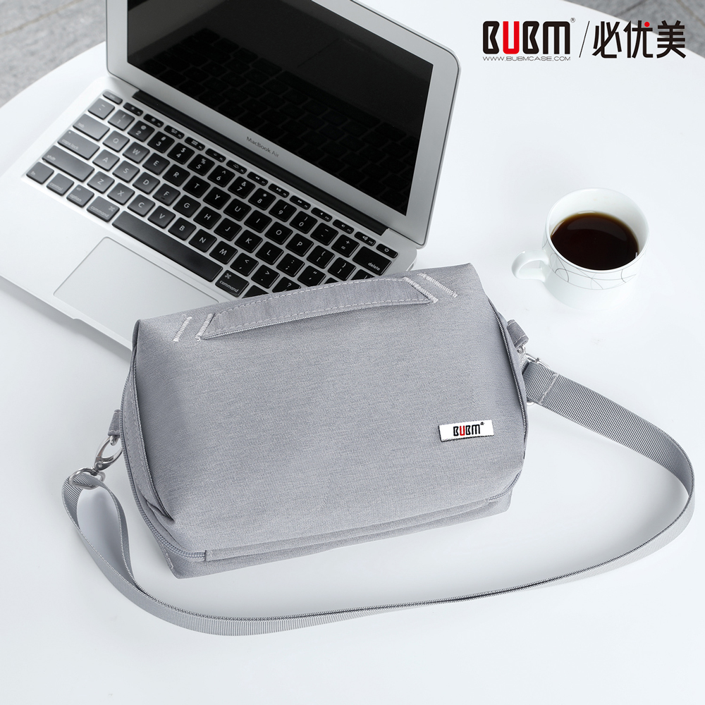 BUBM Travel Cable Cord Bag Accessories Gadget Gear Organizer Hard drive Case Cosmetics Kit for 7.9'' Tablet with Shoulder Strap(China)