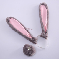 Athemis new Zootopia/Zootropolis Judy Hopps cosplay costume accessories headwear and tail set children and adult size