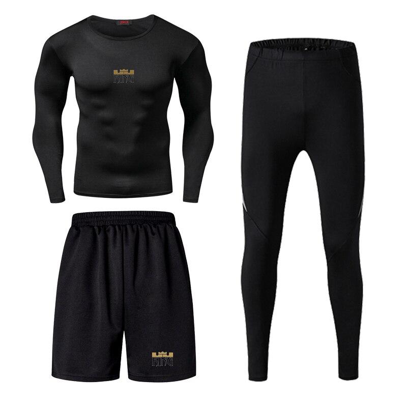 Jordan Kobe James Mannen Fitness Slijtage Panty Sportkleding Basketbal Training Sneldrogend Drie Running Kleding Gym Compressie Sets - 3