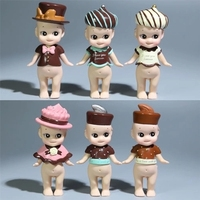 Stock Sale 6pcs Set Chocolate Series Lovely Sonny Angel Mini PVC Action Figures Collection Model Toys