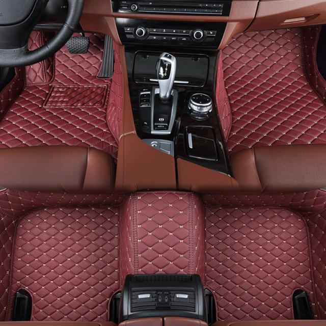 car floor mats for BMW e30 e34 e36 e39 e46 e60 e90 f10 f30 x1 x3 x4 x5 x6 1/2/3/4/5/6/7 car accessories styling Custom foot mats