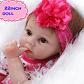 Nova moda 22 polegada seguro jogo de silicone boneca reborn baby doll brinquedo para crianças lifelike super realista reborn baby dolls para venda