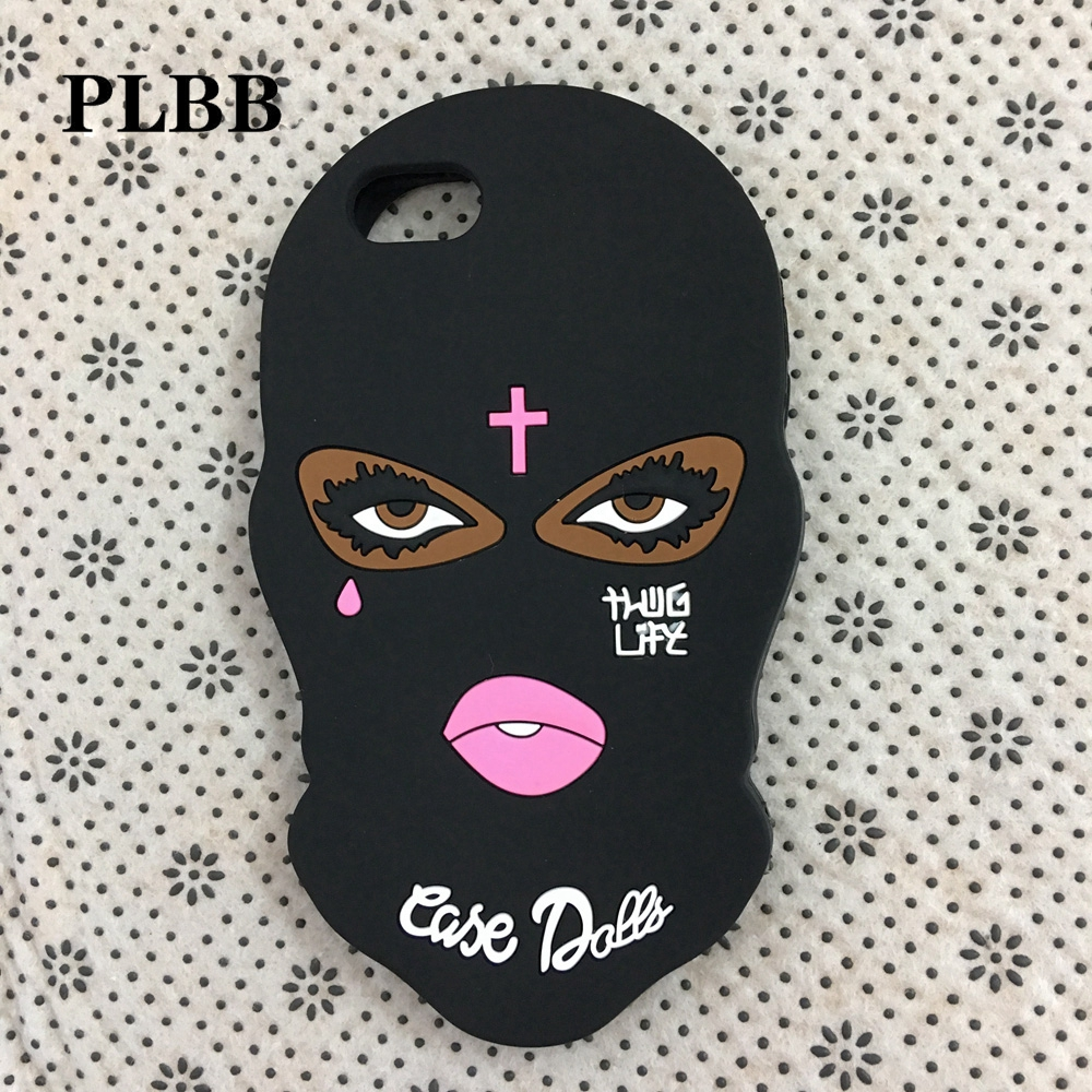 3D Masked Goon Thug Life Phone Coque Case for iPhone X 6 6s 7 8 plus