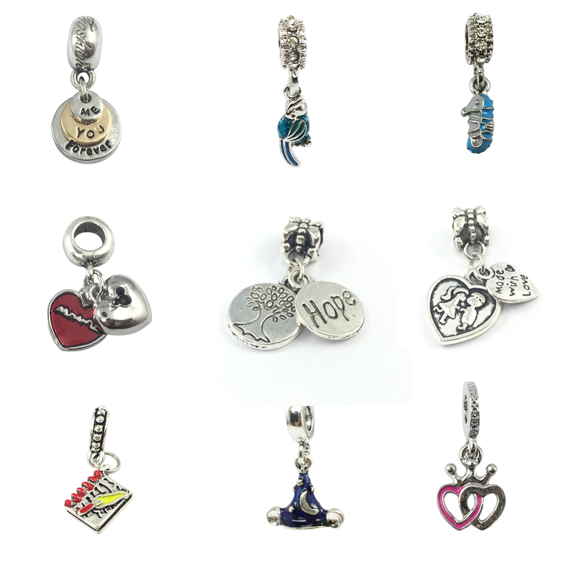 49cff8026 Detail Feedback Questions about Baby Kiss Family Tree Hope You & Me Forever  Crown Heart European Beads Fit Pandora Charms Bracelets&Bangles Necklace on  ...