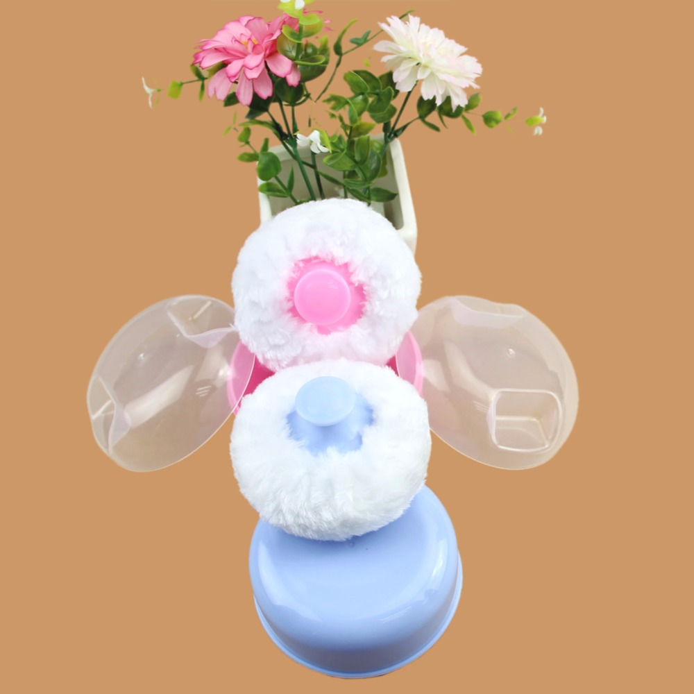 2018 NEW Perfect Baby Soft Face Body Cosmetic Puff Sponge Bath Powder Container Box Case