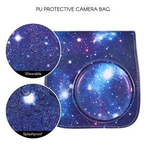 Image 2 - PU Beschermende Instant Mini 8 Case Camera photo Bag Pouch Protector met Riem voor Fujifilm Instax Mini 8 +/8 s/8/9 Foto Case blauw