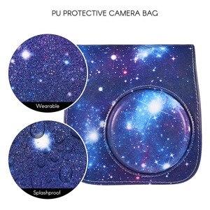 Image 2 - PU Protective Instant Mini 8 Case Camera photo Bag Pouch Protector with Strap for Fujifilm Instax Mini 8+/8s/8/9 Photo Case Blue
