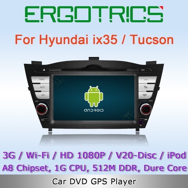 Android OS 3G WiFi Car DVD GPS Sat Navi Headunit For Hyundai ix35 2.4L 2010-2012 / Tucson with Can-Bus IPOD Free Wifi Adapter