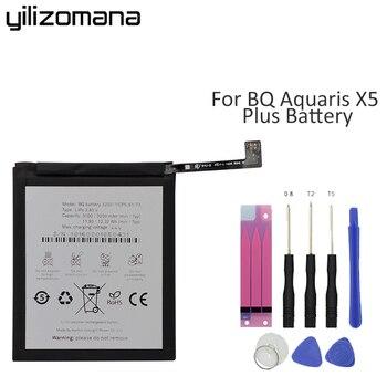 Yilizomana Original verdadera capacidad batería de teléfono 3200 para BQ Aquaris X5 Plus alta calidad gran oferta baterías de repuesto 3200mAh