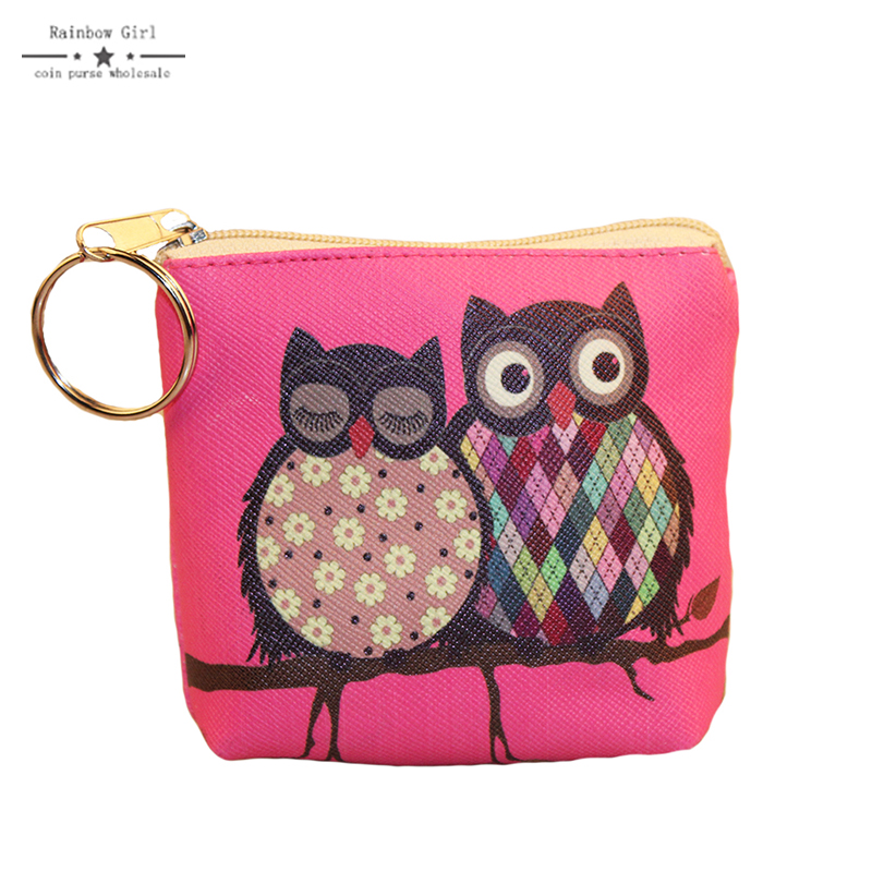 2017 Purse owl se cute Wallets for children Lovely Coin purses for women mini Bags for girls trinket Small Pouch wallet card zip