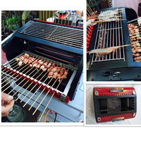 Smokeless Household Barbecue Grill Outdoor Carbon Grill/Electric Grill Machine With 3 Sides Grill Big Capacity For Family Party
